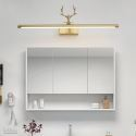 Nordic LED Brass Wall Lamp Mirror Front Light Bedroom Living Room JQ3305