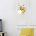 Nordic Brass Wall Lamp Mirror Front Light Bedroom Living Room JQ3306
