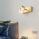 Nordic LED Mirror Front Light Brass Acrylic Wall Lamp Bedroom Living Room JQ3309