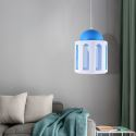 Modern Castle Shaped Pendant Light Blue and White Color Bedroom Kids Room Light