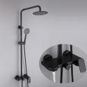 Stainless Steel Shower Faucet System Black Shower Set