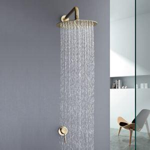Concealed Rain Head Mixer Shower System Brushed Gold / Chrome / Black Optionals