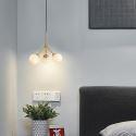 Nordic Brass Pendant Light Creative Glass Ball Lighting Bedroom Office CD2233