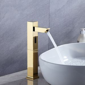 Brass Automatic Bathroom faucet Infrared Motion Sensor Smart Basin Tap Water Saver Gold/Chrome