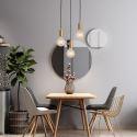 Nordic Brass 3 Pendant Cluster Light for Kitchen Island Creative Minimalist Light Fixture CD2231