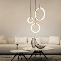 Contemporary LED Pendant Light Creative Ring Shape Lamp Acrylic Light Hallway Bedroom Light QM88231