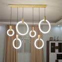 Modern Simple LED Pendant Light Acrylic Ring Lamp Bedroom Living Room Lighting QM88231 QM88231