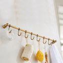 European Antique Style Hook Rack Kitchen Bathroom Copper Hook