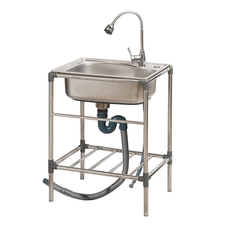 Stainless Steel Stand Alone Kitchen Sink Single Bowl ... on Outdoor Sink With Stand id=57993