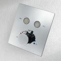 Black/Chrome Thermostatic Shower Valve Handheld Faucet Top Shower Head Concealed Valve