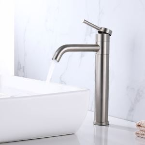 Rotatable Stainless Steel Sink Faucet (Tall)