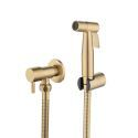 Brushed Gold Bidet Faucet Stainless Steel Supercharged Tap