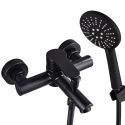 Black Stainless Steel Bathtub Faucet Supercharged Handheld Shower