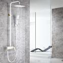 Modern Shower Faucet System Hand Shower+Rainfall Shower Head Five Colors Optional