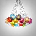 LED Cluster Pendant Light Colorful Glass Pendant Light Bedroom Kid's Room Light(Colorful Style Pls Contact Customer Service)