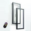 Nordic LED Flush Mount Square Ceiling Light Acrylic Geometric Light Fixture Bedroom Study Room MXD-002-B