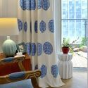 Thermal Insulated Blackout Curtain Minimalist Embroidered Window Treatment (One Panel)