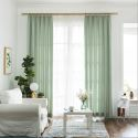 Classical Simple Curtain Houndstooth Jacquard Curtain Bedroom Living Room Fabric (One Panel)