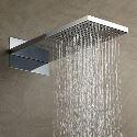 High Pressure Rain Shower Head Thin Square 55×38 CM A Grade ABS Chrome Finish Wall Mounted