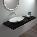Modern Oval White Washbasin Deck Mounted Basin 8326