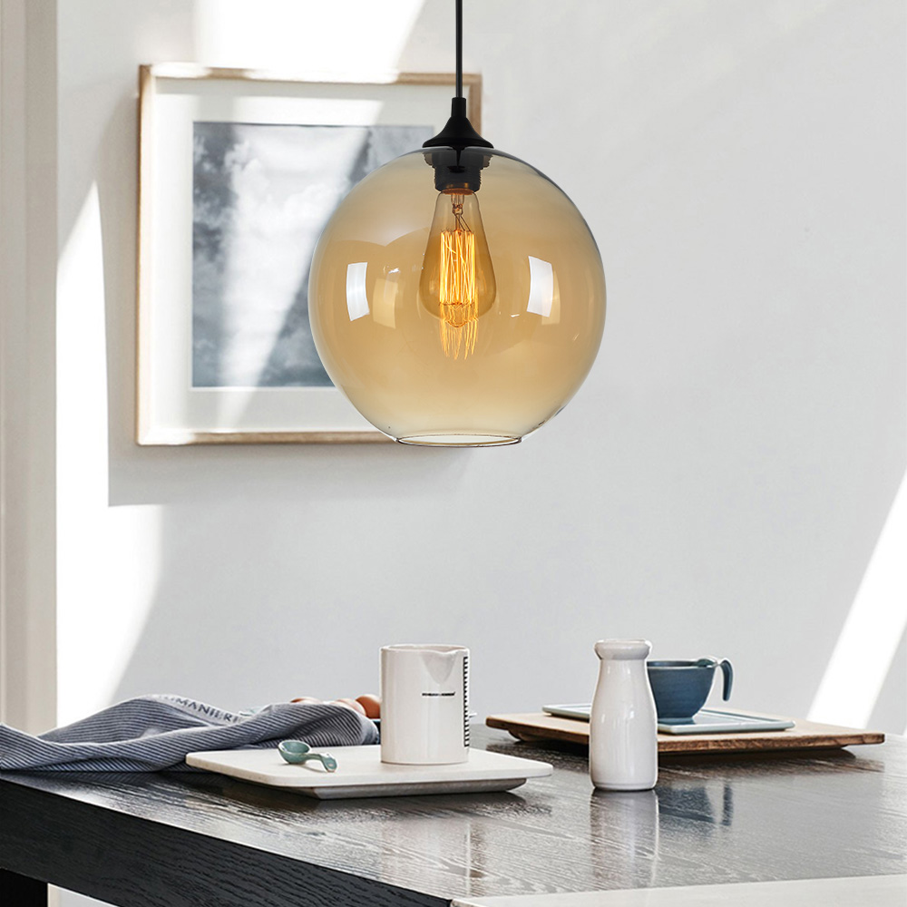 Ceiling Lights Modern Minimalist Glass Pendant Light Globe with 12