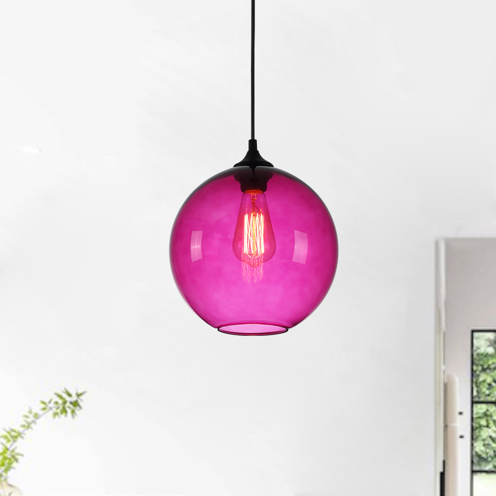 Ceiling Lights Modern Minimalist Glass Pendant Light Globe with 10