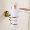 European Retro Style Bathroom Products Bathroom Accessories Copper Art Hair Dryer Holder