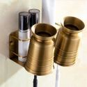 European Copper Toothbrush Holder Punch Free Installation Bath Storage Rack MC1007