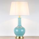 Modern Simple Ceramic Table Lamp Solid Color Glazed Ceramic Counter Lamp Bedroom Living Room HY-123