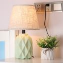 Modern Macaron Ceramic Table Lamp Minimalist Counter Lamp Living Room Study Room HY-011