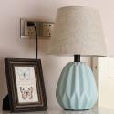 Minimalist Macaron Ceramic Table Lamp Contemporary Reading Lamp Study Room Living Room HY-011