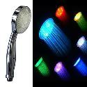 Contemporary 7 Colors Changing LED Handle Shower Head ( Chrome Finish )