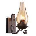 Vintage Wrought Iron Wall Lamp Single Light Sconce Lighting Living Room Hallway QM-9104-1