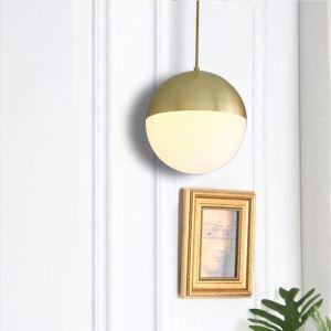 Modern Glass Ball Pendant Light Kitchen Island Ideas Office Lamp QM-99160-1 QM-99160-3