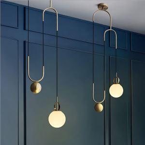 Modern Simple Magic Bean Pendant Lamp Single Head pendant Light Living Room Bedroom QM-6804