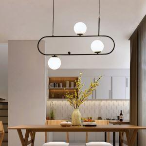 Modern Simple Magic Bean Pendant Light Horizontal Pendant Lamp Bedroom Office QM-6802