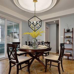 Modern Simple Iron Pendant Lamp Geometric Rubik's Cube Pendant Light Living Room Dining Room QM-19014