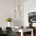 Modern Simple Glass Pendant Light Bedroom Bar XG-9229