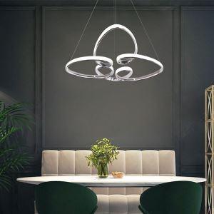 Modern Acrylic LED Pendant Lamp Heart Twist Light Fixture Bedroom Living Room LB941046