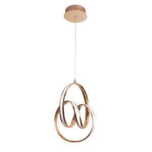 Modern Minimalist LED Pendant Lamp Unique Circular Twist Light Fixture Living Room Kitchen Island LB941037