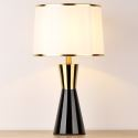 Modern Black Ceramic Table Lamp Simple Counter Lamp Bedroom Living Room HY-107