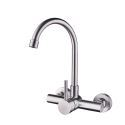 Wall Mount Kitchen Mixer Tap Faucet Stainless Steel