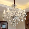 Luxury Crystal Chandelier European Elegant Pendant Light Living Room Dining Room