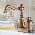 Antique Brass Centerset Bathroom Faucet Single Handle Mixer Tap 4 Inch