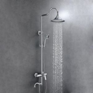 Classic Brass Shower Faucet Set 8 Inches Shower Head Shower Faucet System 5 Colors Optional