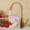 Antique Bathroom Sink Faucet Brass Basin Tap (Tall)