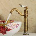 Antique Brushed Finish Brass Sink Faucet Single Hole Single Handle
