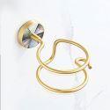 Modern Brass Hair Dryer Holder Seashell Decoration QSJ001