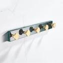 Nordic Marble Brass Coat Hook Creative Robe Row Rack YSJJ005