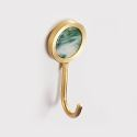 European Brass Single Coat Hook Robe Hook QSYG01